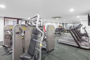 The fitness center and/or fitness facilities at Meriton Suites Church Street, Parramatta