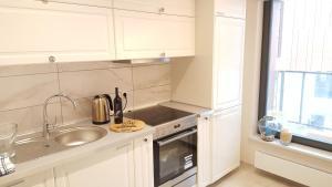 Kuchnia lub aneks kuchenny w obiekcie Admiral Apartment
