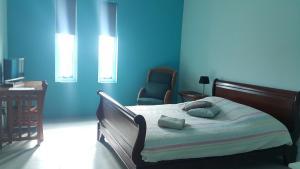 Cama ou camas em um quarto em Guesthouse Curacao
