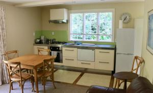 A kitchen or kitchenette at Akaroa Country House