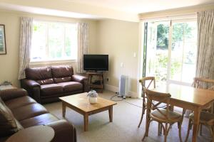 A seating area at Akaroa Country House