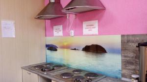 Кухня или мини-кухня в Новый Хостел Сочи