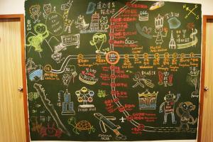 The floor plan of Trip GG Hostel