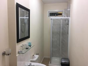A bathroom at ML Lodge