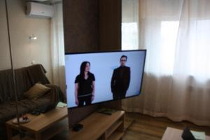 A television and/or entertainment center at Apartment on Lenina 146