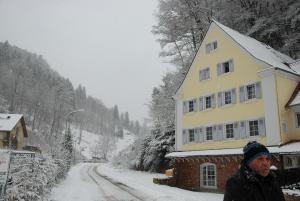 Schlossberg Landgasthof during the winter