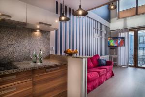 The lobby or reception area at Apartamenty Nautilus