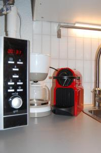 A kitchen or kitchenette at Au Coeur du Village Naturiste