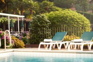 The swimming pool at or near Hotel Belvedere Locarno