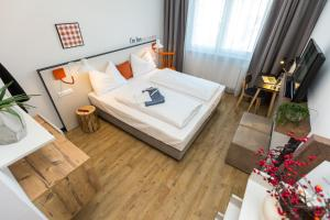 Ein Bett oder Betten in einem Zimmer der Unterkunft I´m Inn Wieselburg