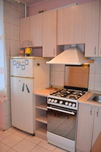 A kitchen or kitchenette at Apartment on Peremogy Square