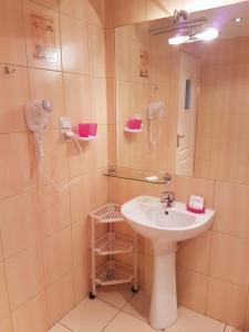 Ванная комната в Hotel Restauracja Kinga