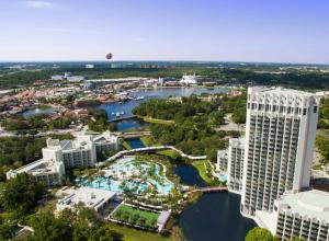 A bird's-eye view of Hilton Orlando Buena Vista Palace - Disney Springs Area