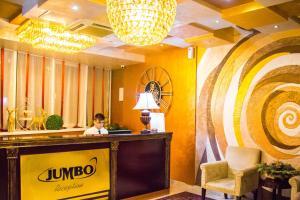 The lobby or reception area at Jumbo Hotel