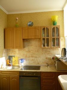 A kitchen or kitchenette at Apartment on Lermontova
