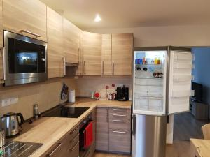 A kitchen or kitchenette at Apartments Anna and Ondra
