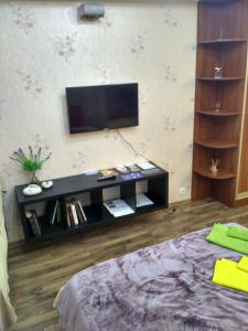 A television and/or entertainment center at Apartment Kronshtadt