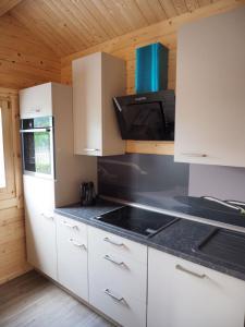 Küche/Küchenzeile in der Unterkunft Ferienhaus Holzhaisl