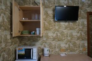 Телевизор и/или развлекательный центр в Turbaza Cherkasskiy zaton