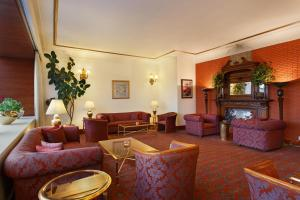 A seating area at Clarkes hotel, A grand heritage hotel since 1898