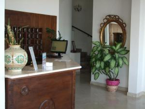 The lobby or reception area at Hotel Isola Bella