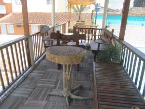 A balcony or terrace at Hotel Recanto do Sol