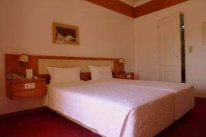 A bed or beds in a room at Albergaria Senhora do Monte
