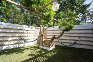 A garden outside Chillax Flashpackers Boracay
