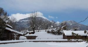 El Acebo de Casa Muria during the winter