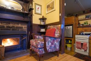 A television and/or entertainment center at Stringer's Cottage