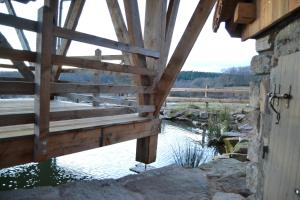 Les cabanes des Fontaines during the winter