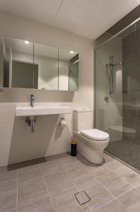 A bathroom at CBD Apartments