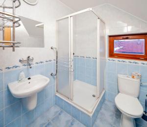 Ein Badezimmer in der Unterkunft Wellness Penzión Rosnička