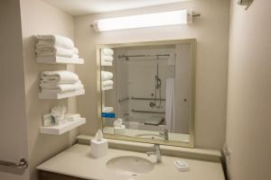 A bathroom at Hampton Inn by Hilton Amesbury, MA