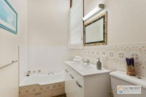 A bathroom at Siesta by the Sea