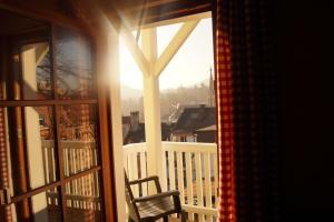 Ein Balkon oder eine Terrasse in der Unterkunft Petite Bellevue