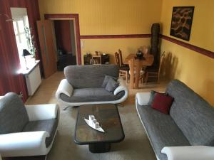 Ein Sitzbereich in der Unterkunft La Vita
