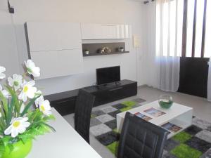 A television and/or entertainment center at Apartamentos AquaRia Fuseta