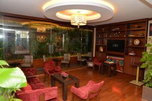 The lobby or reception area at Golden Siyav Hotel