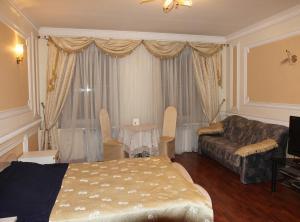 Кровать или кровати в номере Гостевой дом «Адаман»