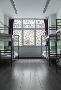 A bunk bed or bunk beds in a room at Hostel One Budapest