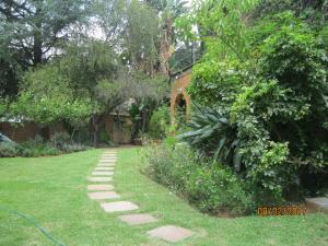 A garden outside Treetops & Treats Guest House
