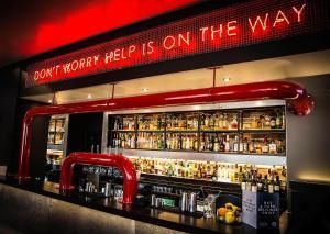The lounge or bar area at Malmaison Edinburgh