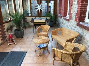A seating area at La Maison du Vigneron