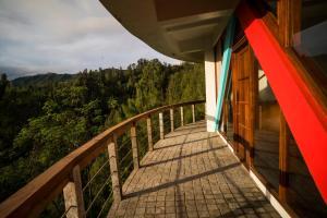 Balkon atau teras di Pagupon Bromo Budget Lodge
