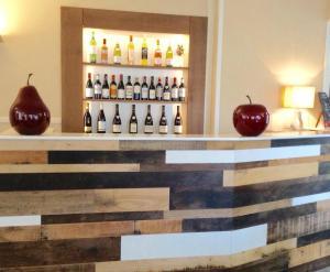 Salon ou bar de l'établissement Hôtel Restaurant de la Place
