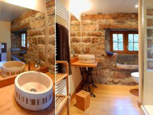 A bathroom at La Meliere