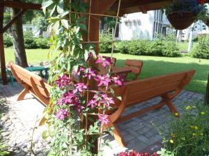 Vonkajšia záhrada v ubytovaní Vila Beba