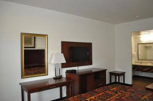 A television and/or entertainment center at City Center Inn