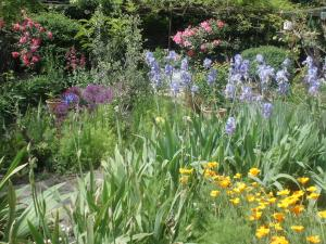 A garden outside Clos Réginel Remparts Sud